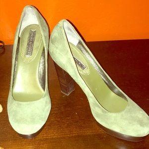 Banana Republic olive green suede heels